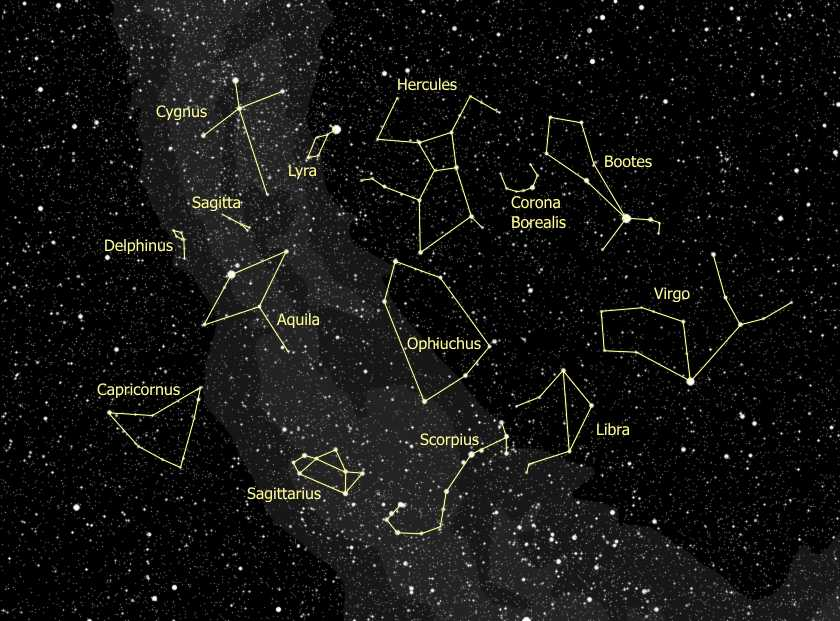 planets and constellations night sky - photo #16